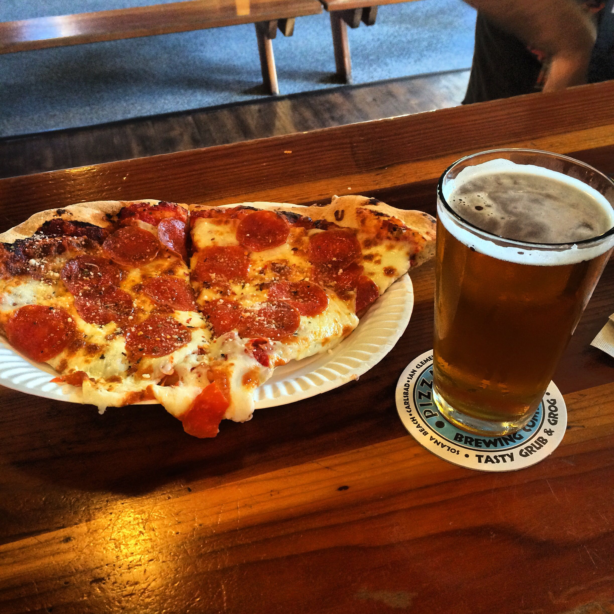 San Diego Air & Space Museum San Diego, Pizza Port (San Diego, Ca) Pepporoni and The Bronx Bomber IIPA ...