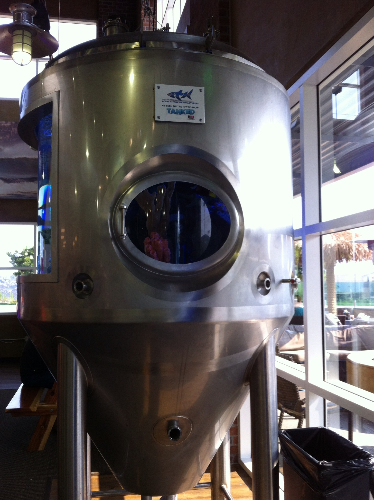 San Diego Air & Space Museum San Diego, Pizza port in San Marcos, California fish tank made by ATM/ Tanked ...