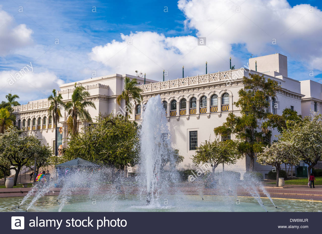 San Diego Automotive Museum San Diego, Bea Evenson Fountain and the Natural History Museum. Balboa Park ...