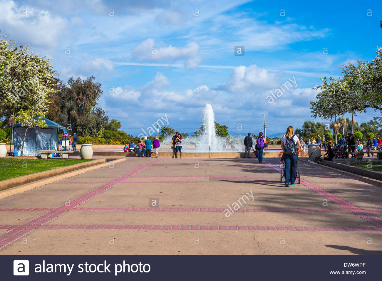 San Diego Automotive Museum San Diego, Walkway leading to the Bea Evenson Fountain at Balboa Park. San ...