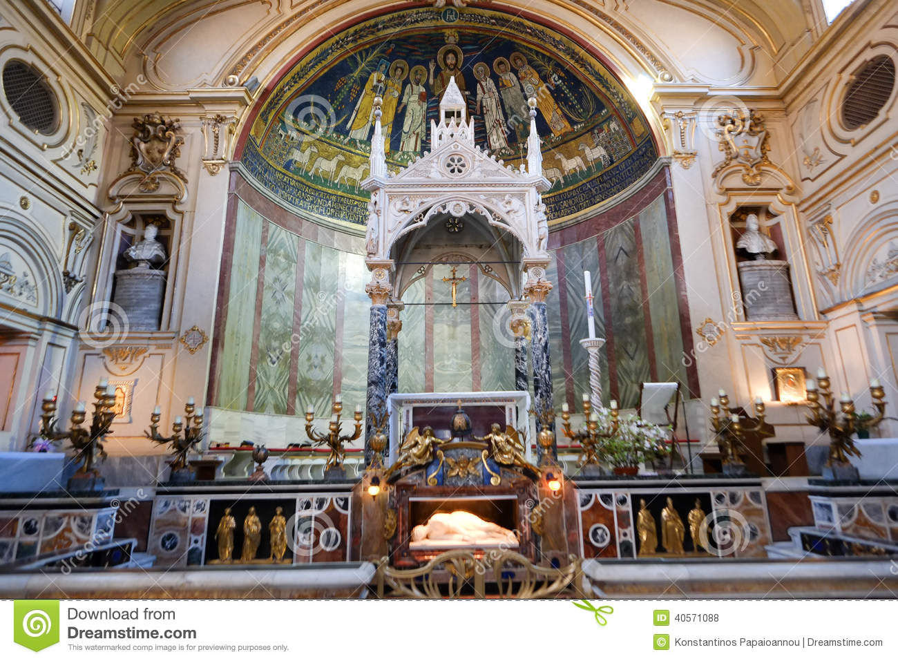 Santa Cecilia in Trastevere Rome, Santa Cecilia Church In Rome Stock Photo - Image: 40571088