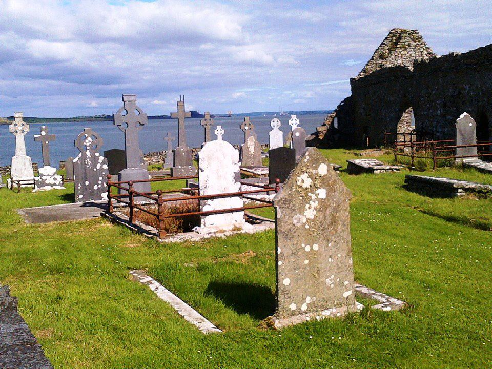 Scattery Island Kilrush, FB page - Ireland of a Thousand Welcomes ♥ Graveyard on Scattery ...