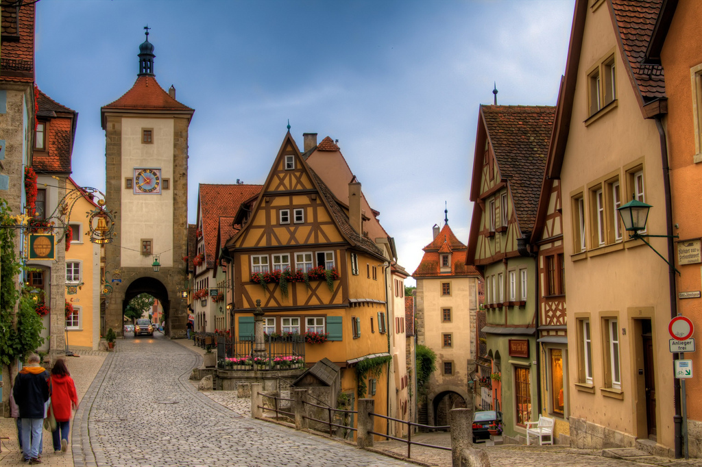 Schaezlerpalais The Romantic Road, Bike und Building... Rothenburg ob der Tauber, Bavaria, Germany ...