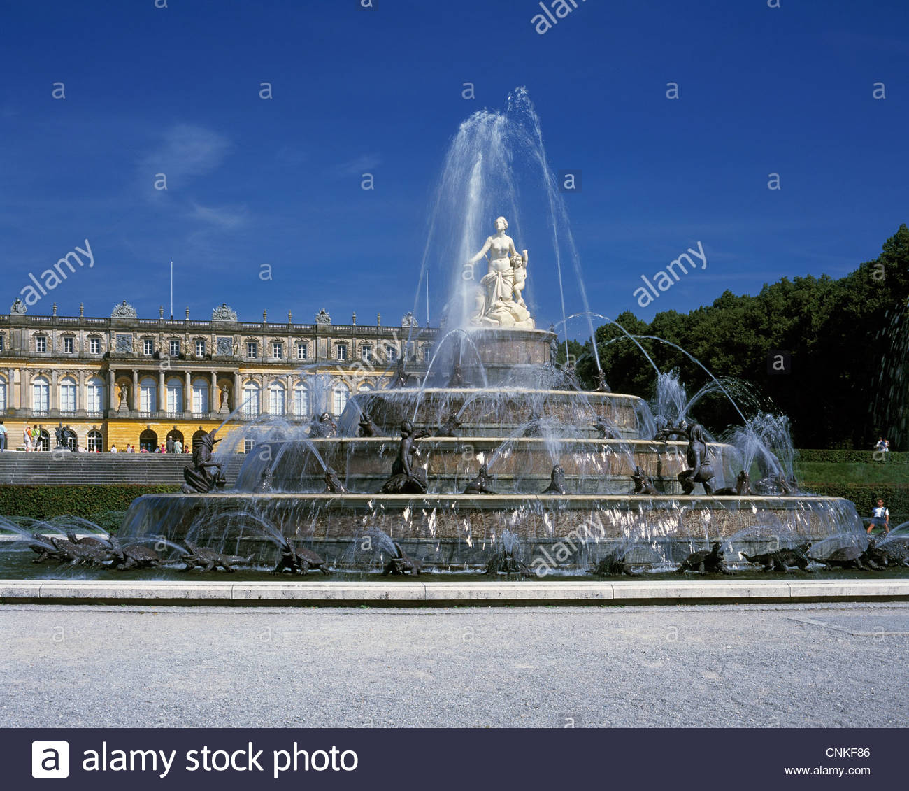 Schloss Herrenchiemsee The Bavarian Alps, Herrenchiemsee Palace Castle Statue Stock Photos & Herrenchiemsee ...