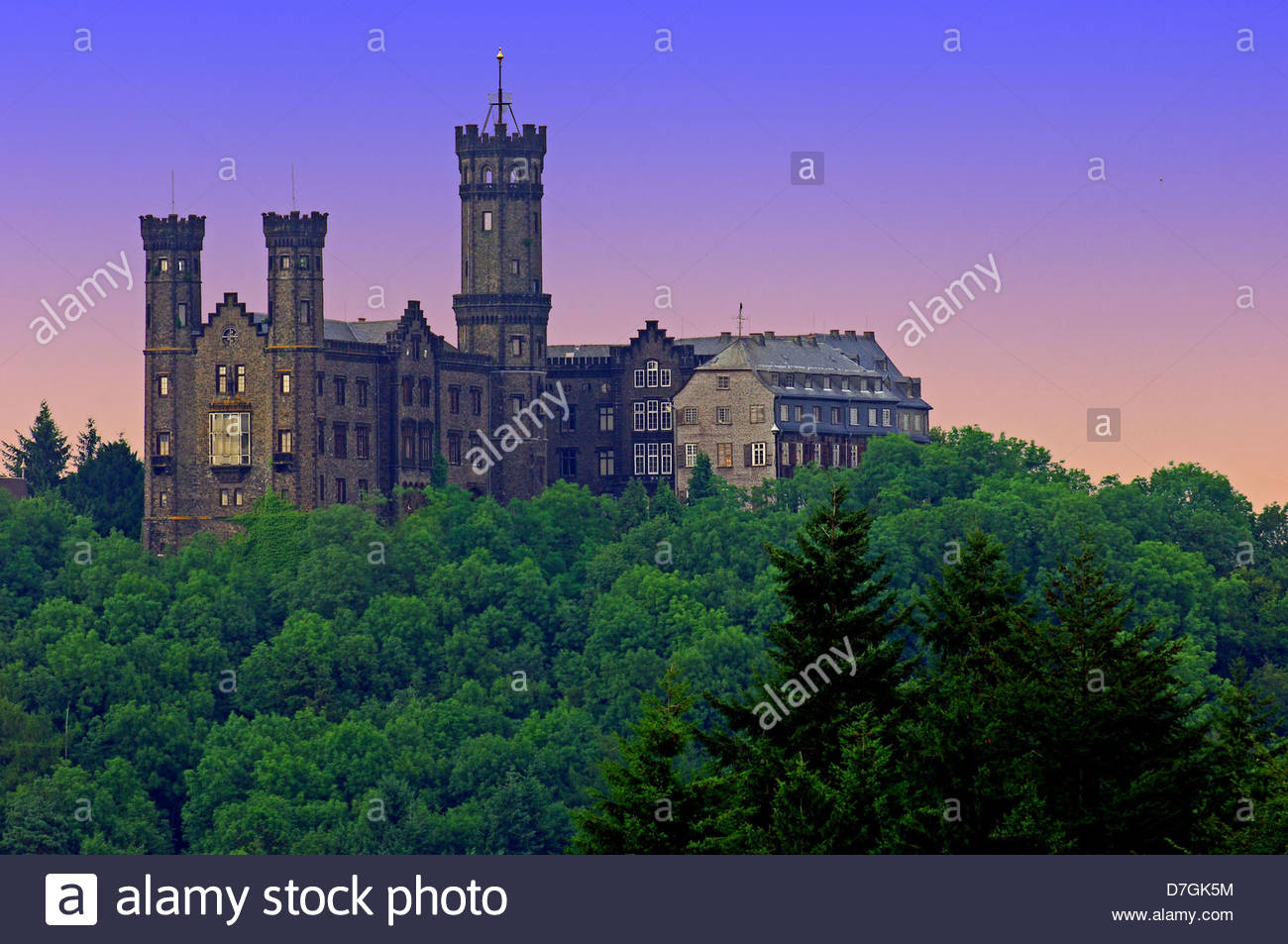 Schloss Kropsburg The Pfalz and Rhine Terrace, Rheinland Pfalz Stock Photos & Rheinland Pfalz Stock Images - Alamy