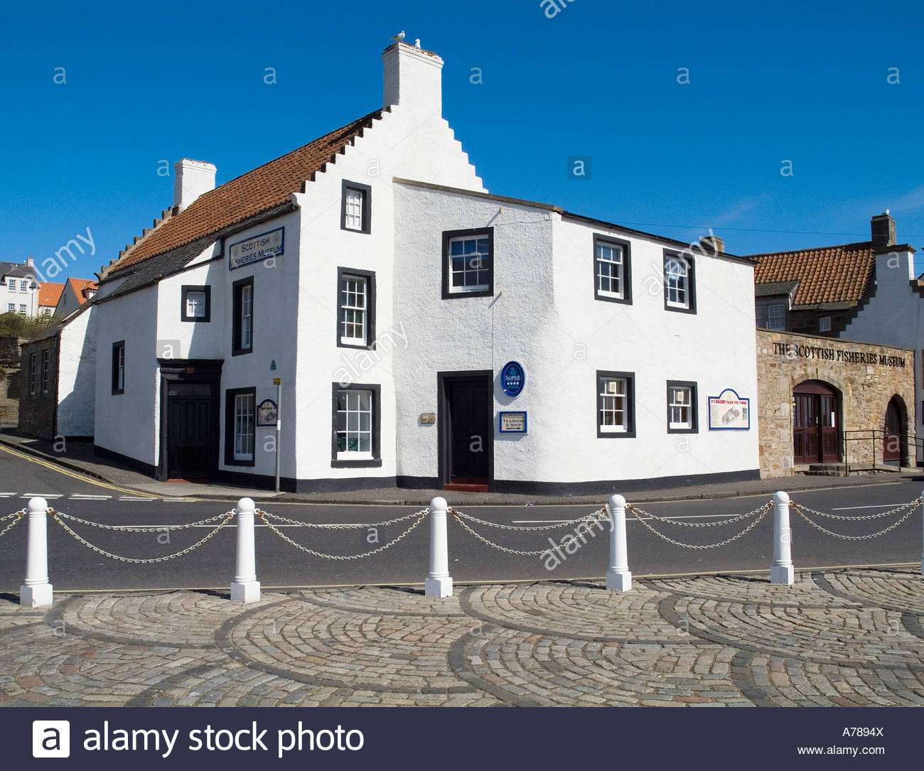 KODE Bergen, dh Scottish Fisheries Museum ANSTRUTHER FIFE White washed clad ...
