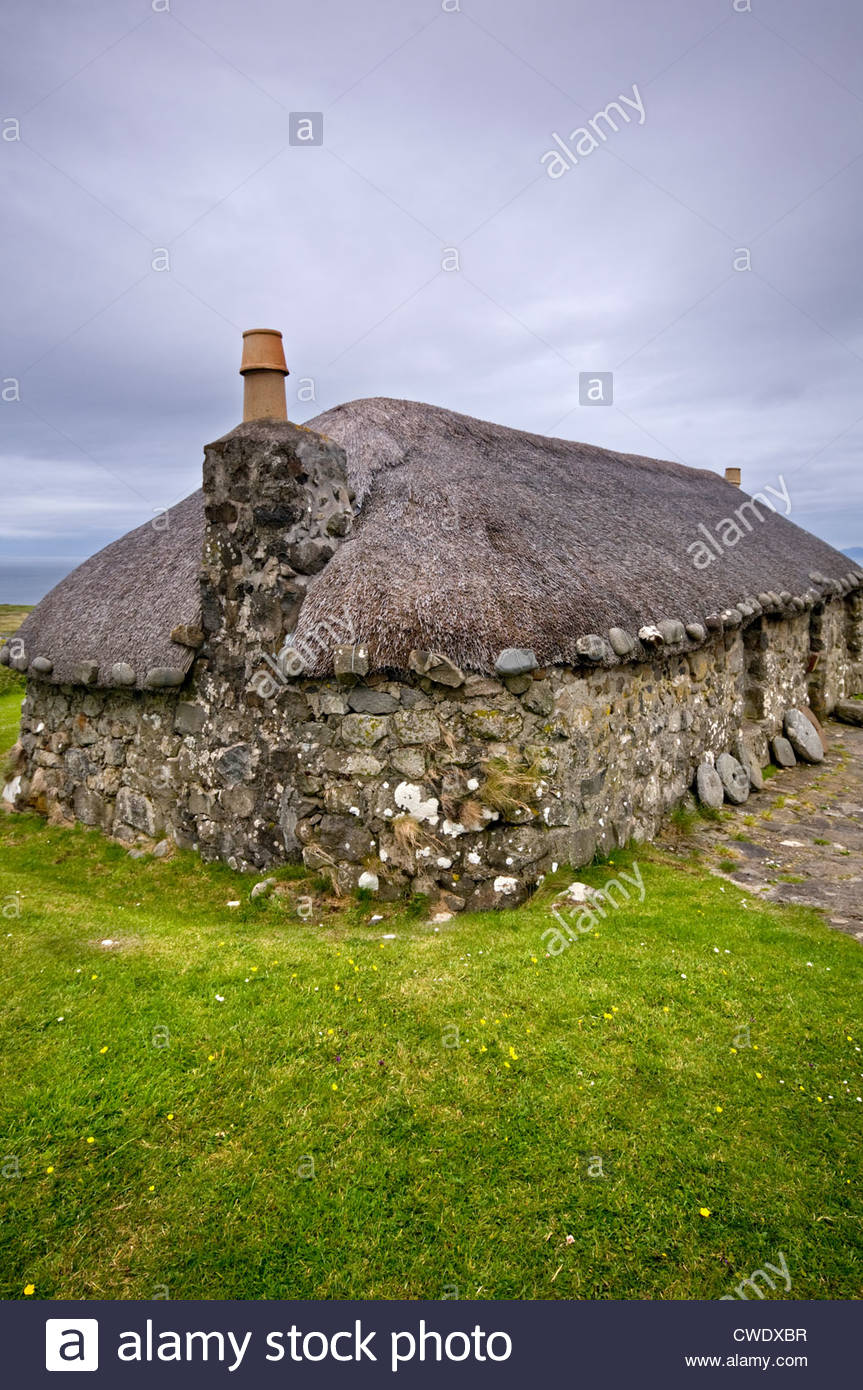 Borreraig Park Museum The Northern Highlands and the Western Isles, History Of Crofting Island History Stock Photos & History Of ...