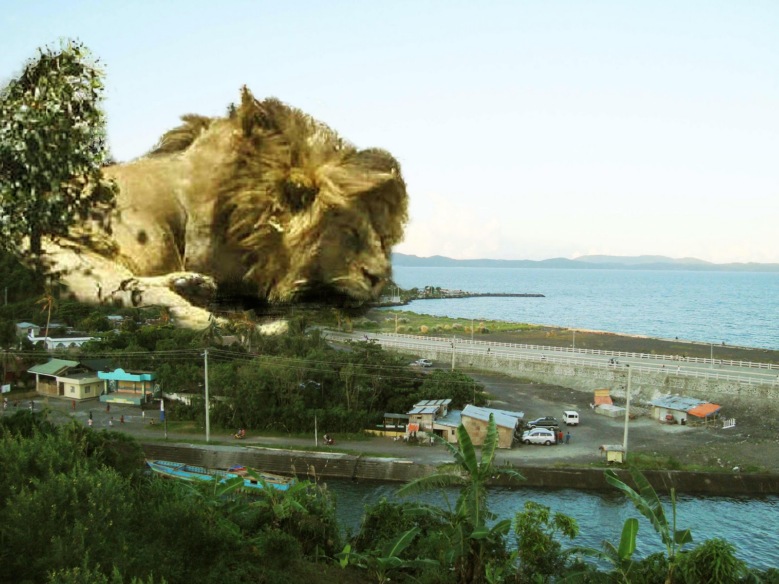 Sleeping Lion Hill Legazpi, Omeo: The Biggest Creature Ever To Walk In Albay (20x larger than ...