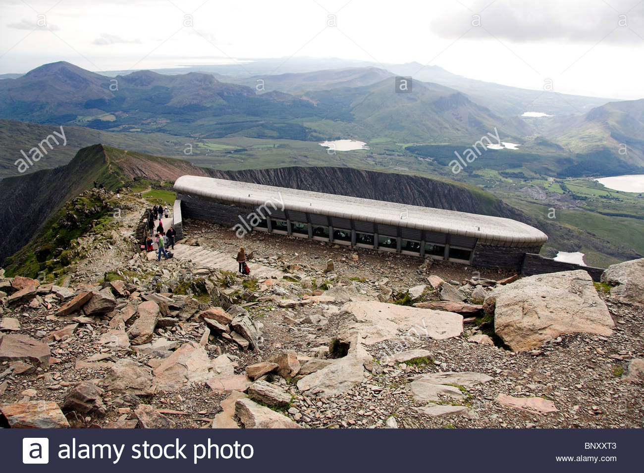 Snowdonia National Park North Wales, Mount Snowdon summit cafe, Snowdonia National Park, North Wales ...