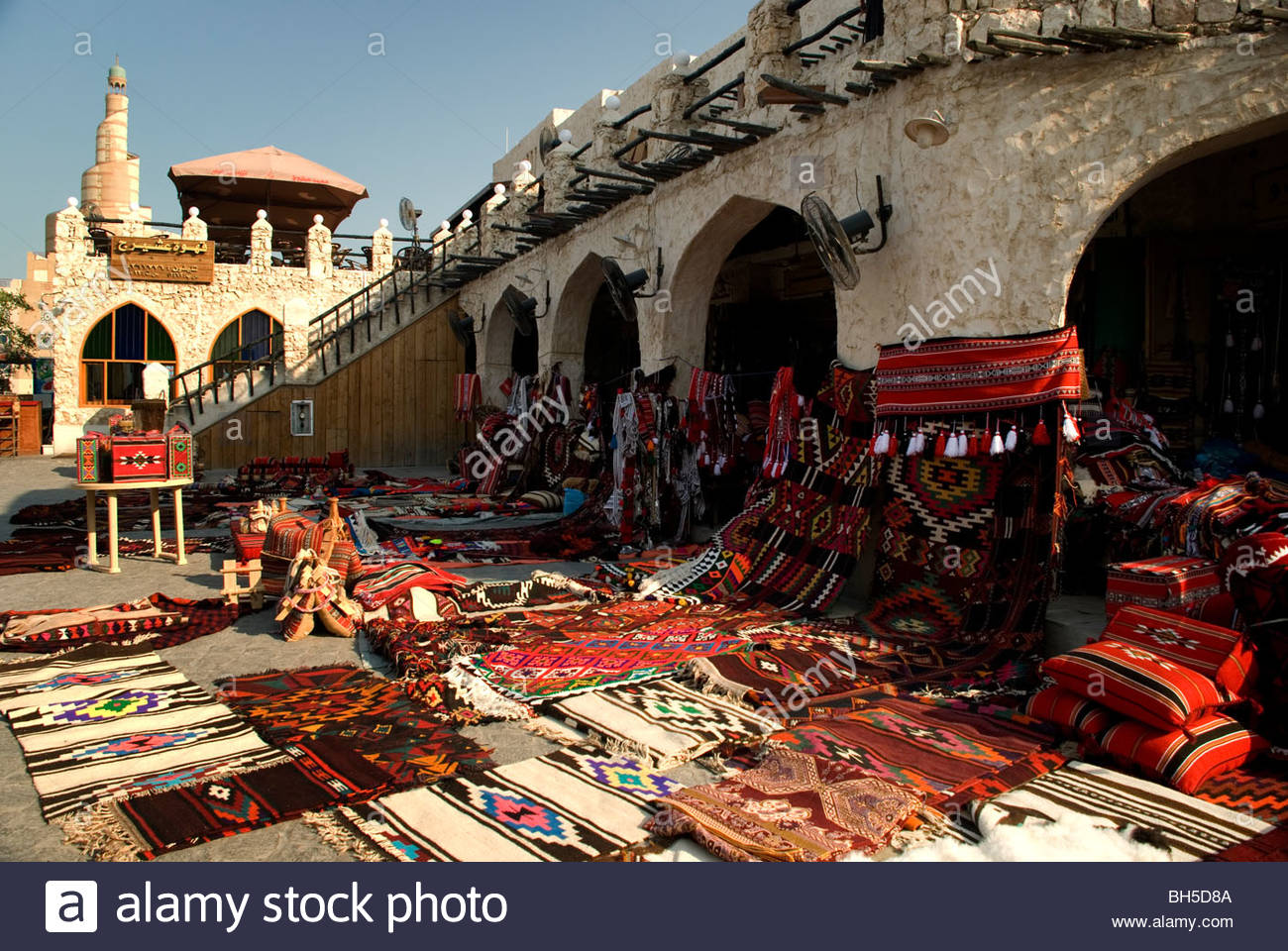 Souq Waqif Doha, Traditional middle eastern carpets for sale in souq Waqif, Doha ...