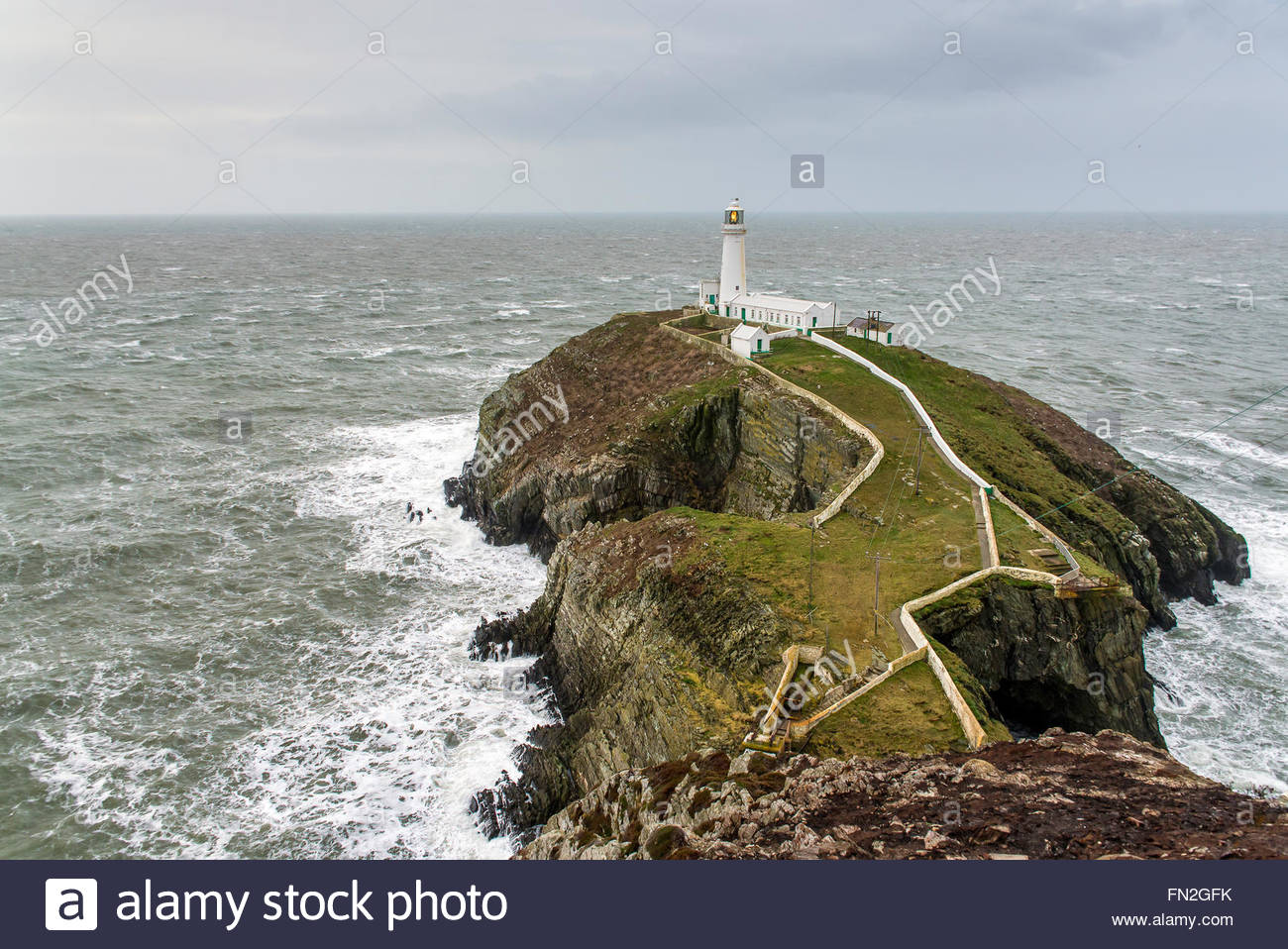 South Stack Lighthouse Holyhead, South Stack Lighthouse Holyhead Anglesey North Wales Uk, Irish Sea ...