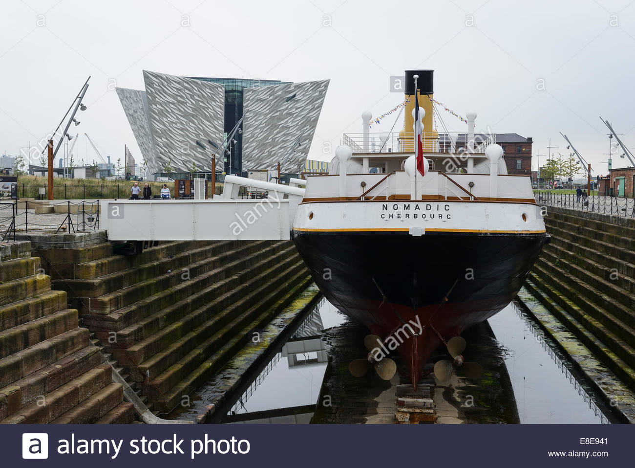 SS Nomadic Belfast, The SS Nomadic and Titanic Belfast museum Northern Ireland UK ...