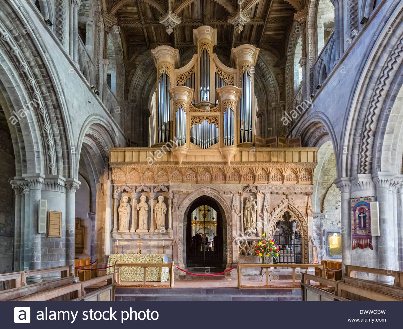 St. David's Cathedral South Wales, The organ in St David's Cathedral, St David's, Pembrokeshire ...