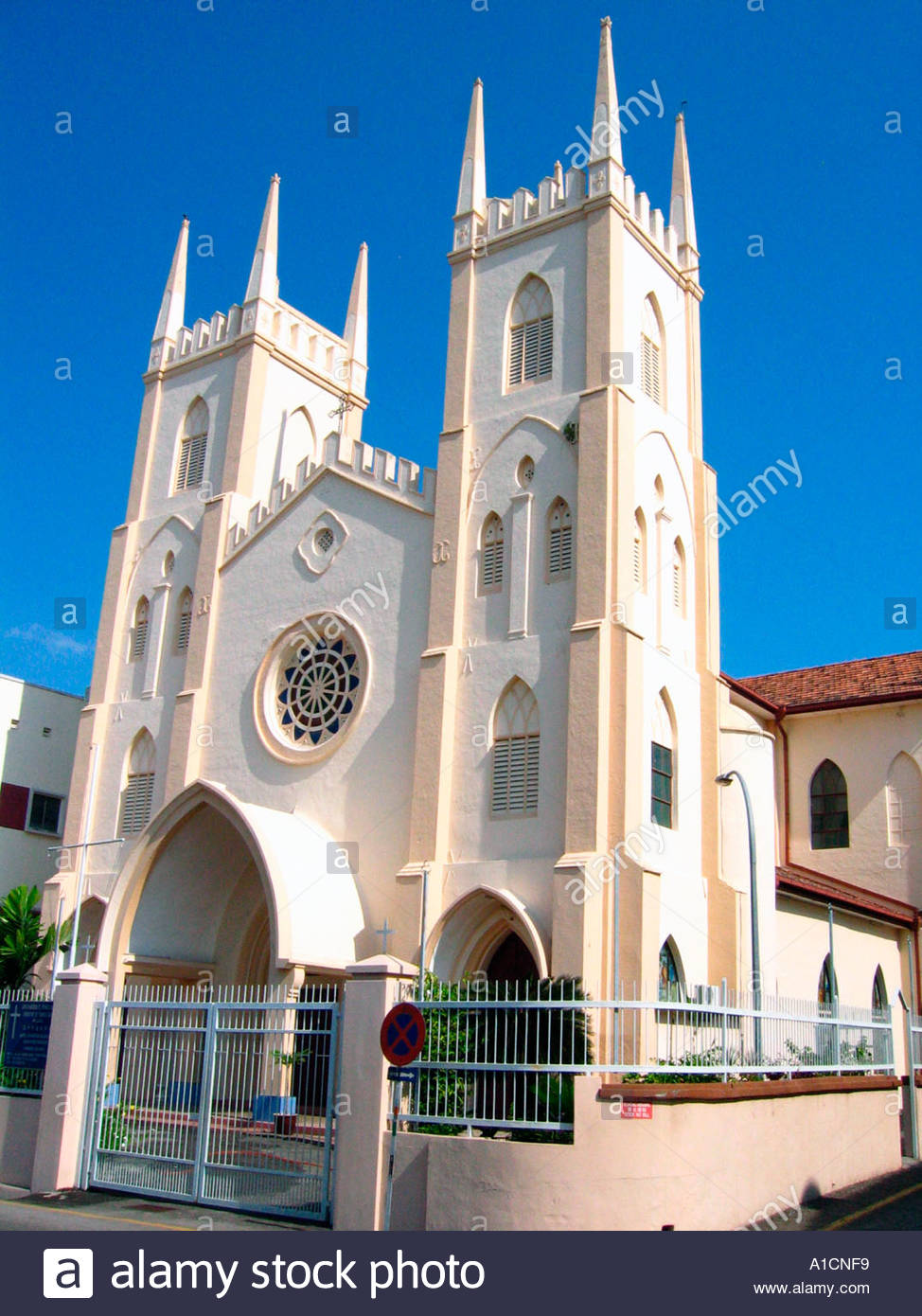 St Francis Xavier's Church Melaka City, Church St Francis Xavier Melaka Stock Photos & Church St Francis ...