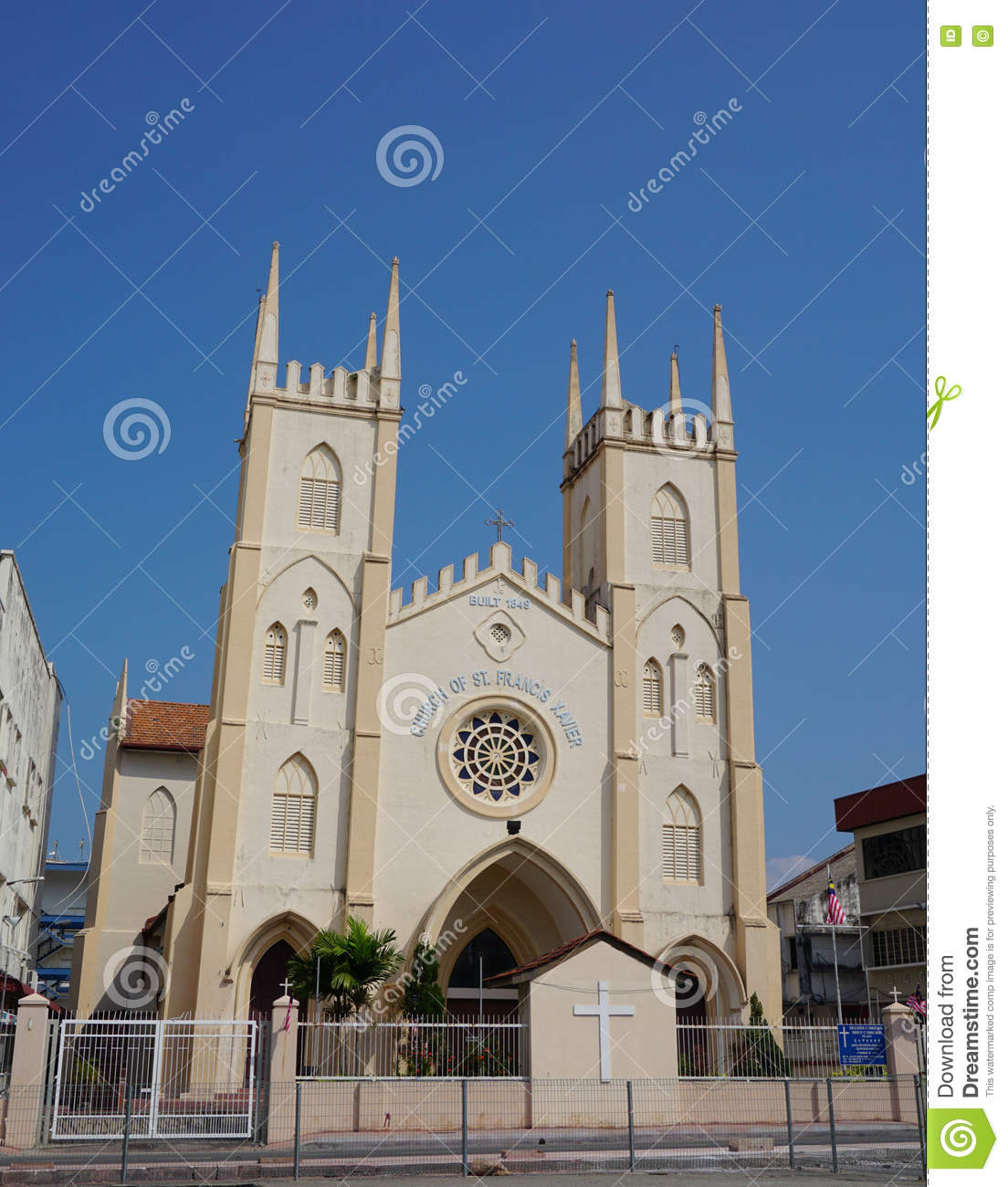 St Francis Xavier's Church Melaka City, Church Of St. Francis Xavier, Malacca City, Malaysia Editorial ...