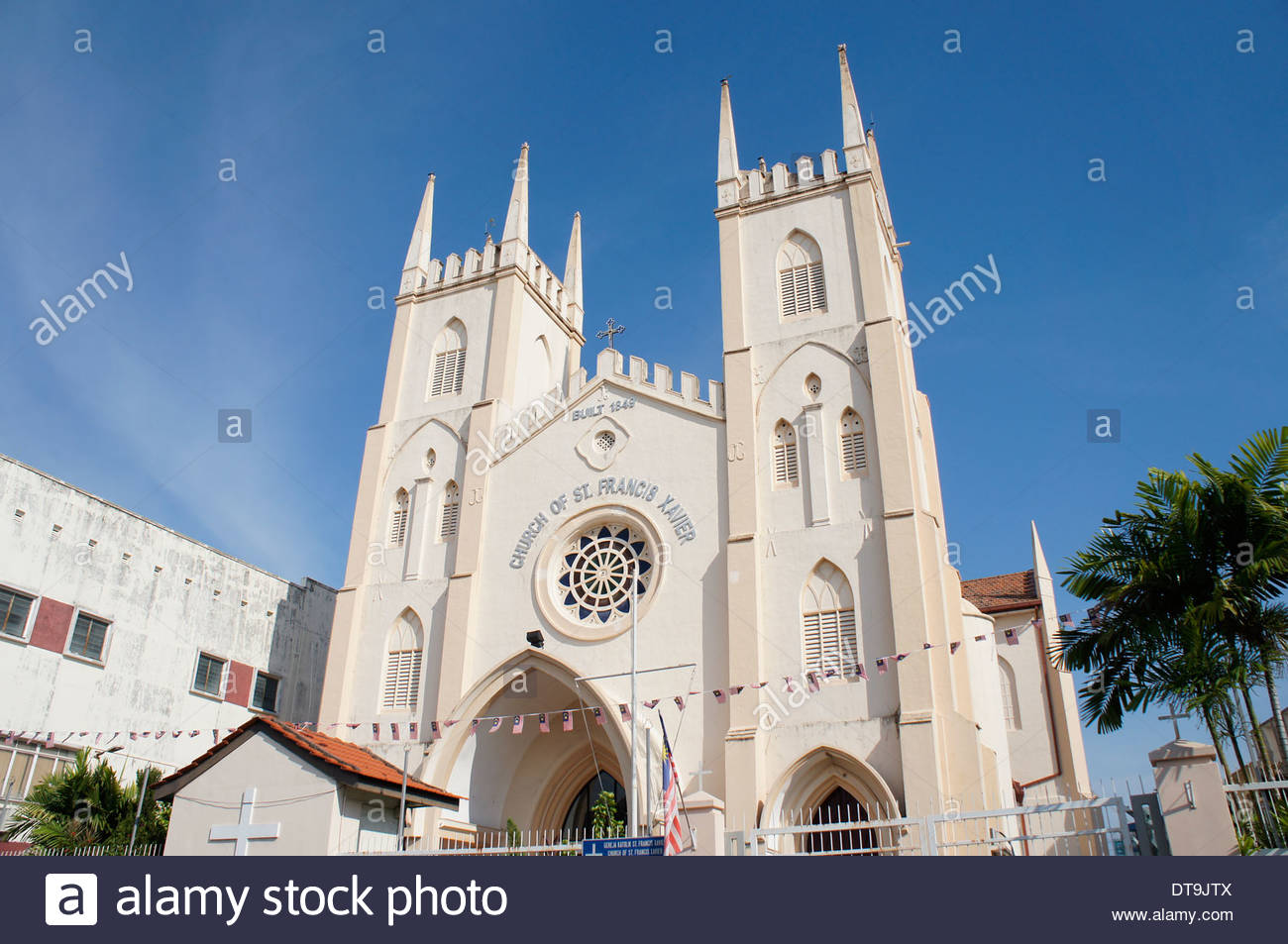 St Francis Xavier's Church Melaka City, Church of St. Francis Xavier, Malacca, Malaysia Stock Photo ...