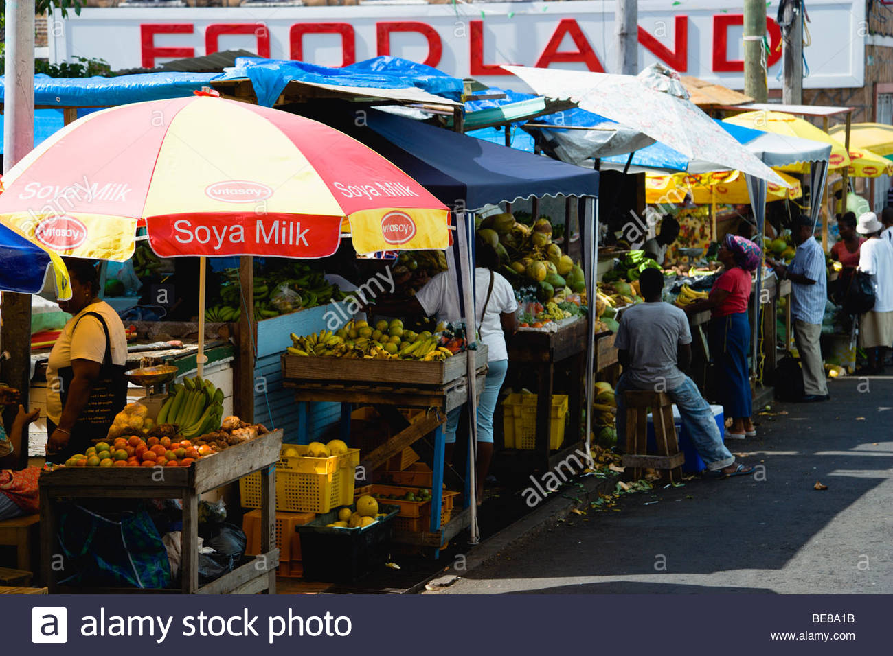 St George's Market Square St George's, WEST INDIES Caribbean Grenadines Grenada St George's Market Square ...