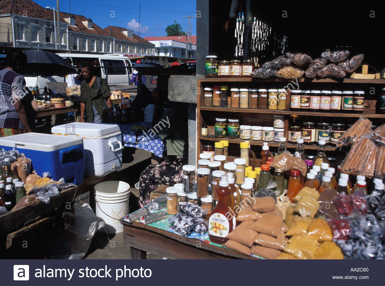 St George's Market Square St George's, Market Square St Georges Grenada Caribbean Stock Photo, Royalty ...