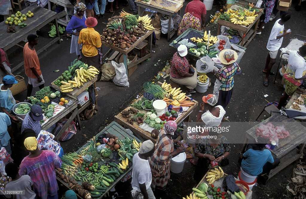 St George's Market Square St George's, Grenada St Georges Market Square Produce Vendors Offer Locally ...