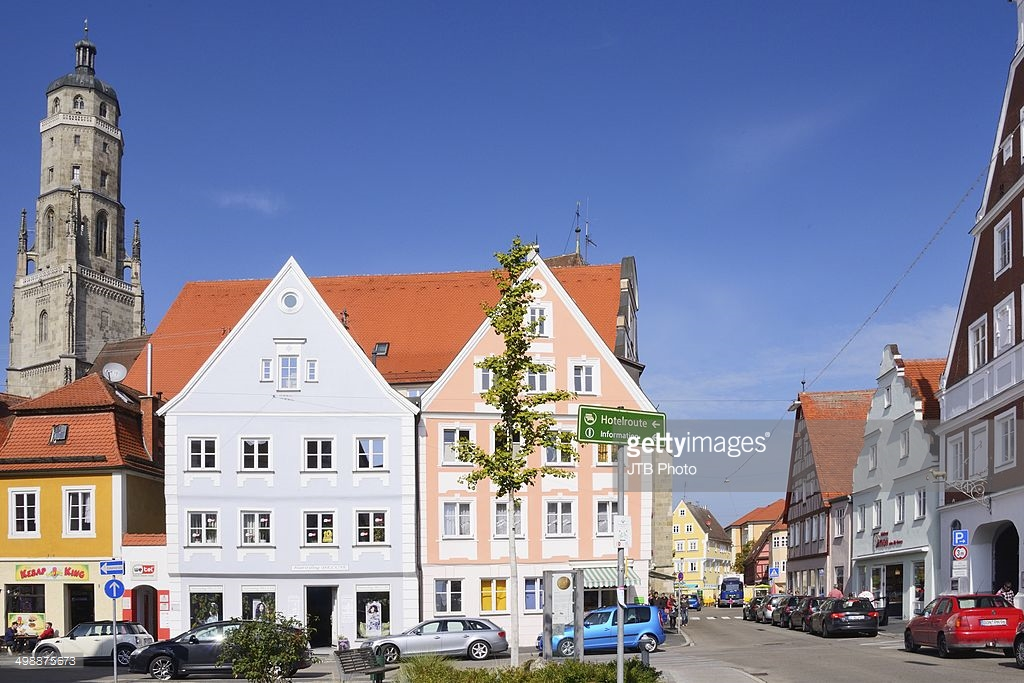 St. Georg's Church The Romantic Road, Germany, Nordlingen, Romantic Road, St.Georgs Kirche, View of St ...
