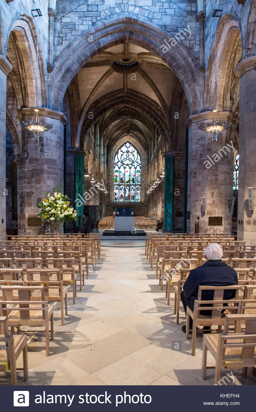 St. Giles Church Aberdeen and the Northeast, Scotland Scottish Cathedrals Interior Interiors Uk Stock Photos ...