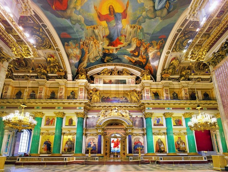 St Isaac's Cathedral St Petersburg, Saint Isaac's Cathedral in St Petersburg, Russia, interior | Stock ...