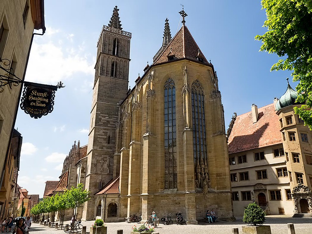 St. Jakob Church The Romantic Road, St. James' Church in Rothenburg ob der Tauber, in the Franconia ...