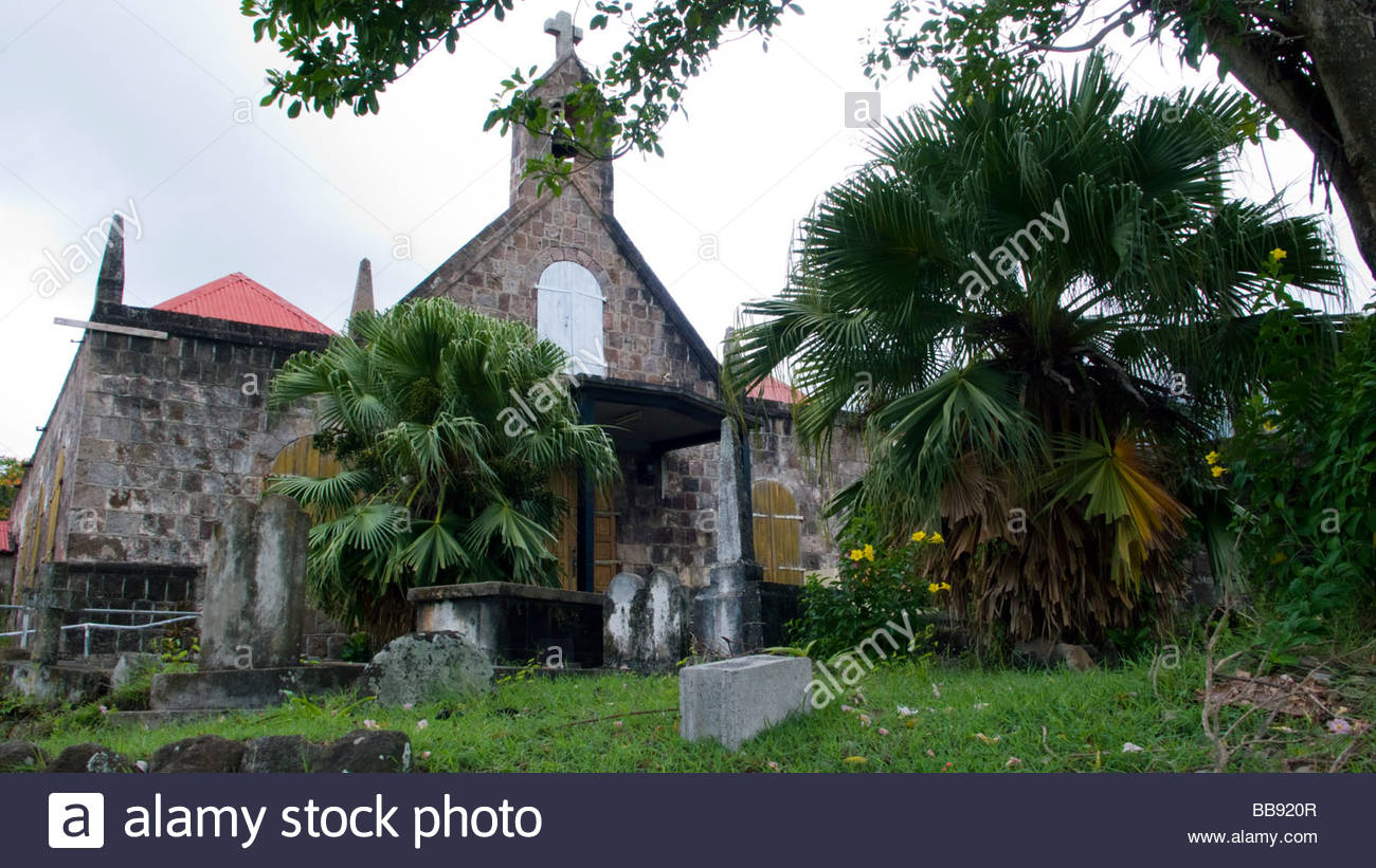 St John's Fig Tree Church South Nevis, Figtree Stock Photos & Figtree Stock Images - Alamy