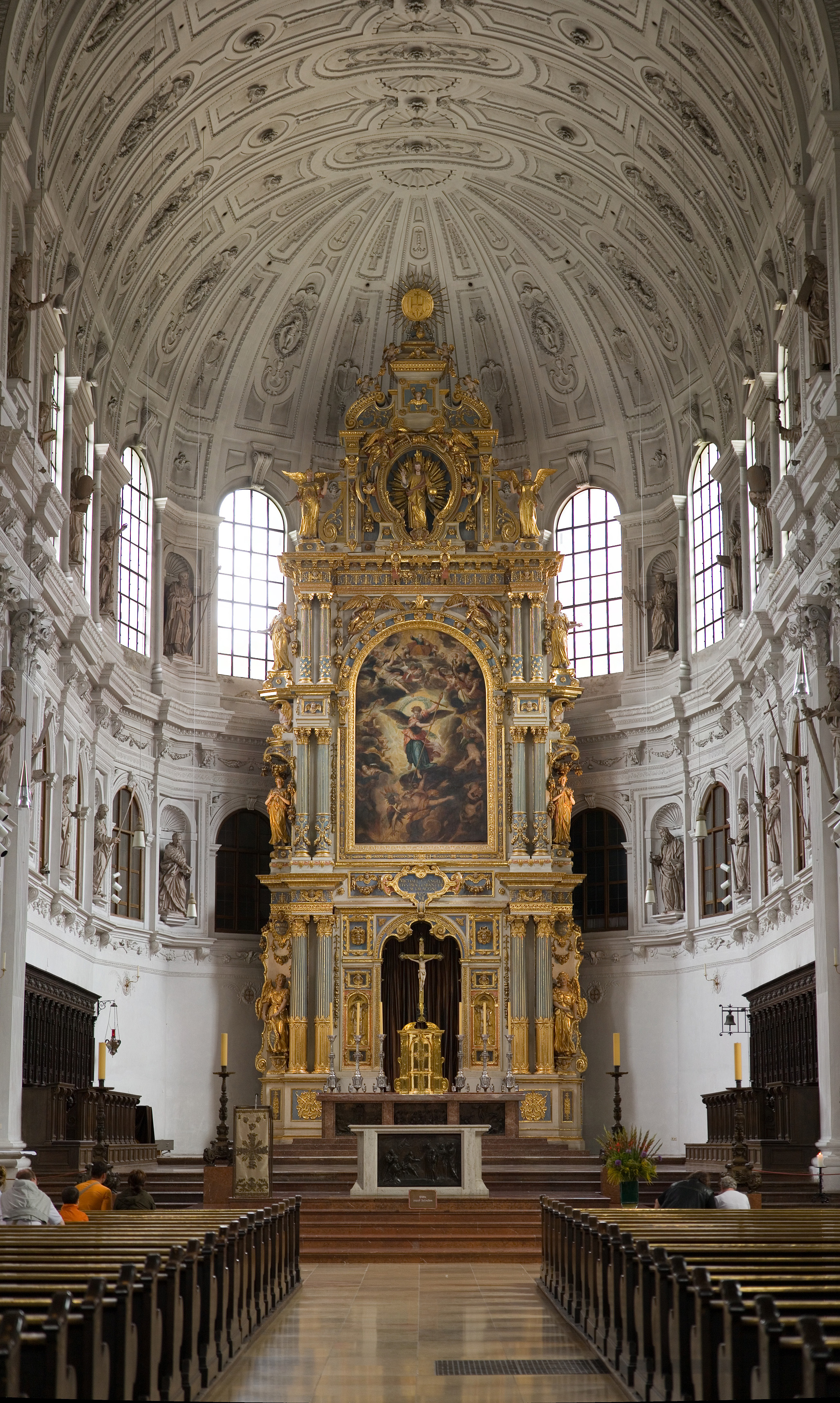 St. Michael's Church The Black Forest, The High Altar at St. Michael's Church - Munich, Germany (a Jesuit ...