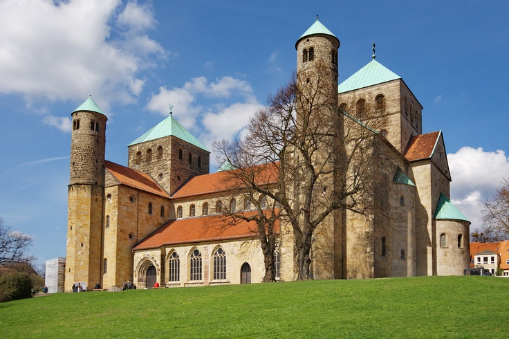 St. Michael's Church The Black Forest, Germany, Lower Saxony, Hanover, St Mary's Cathedral and St ...