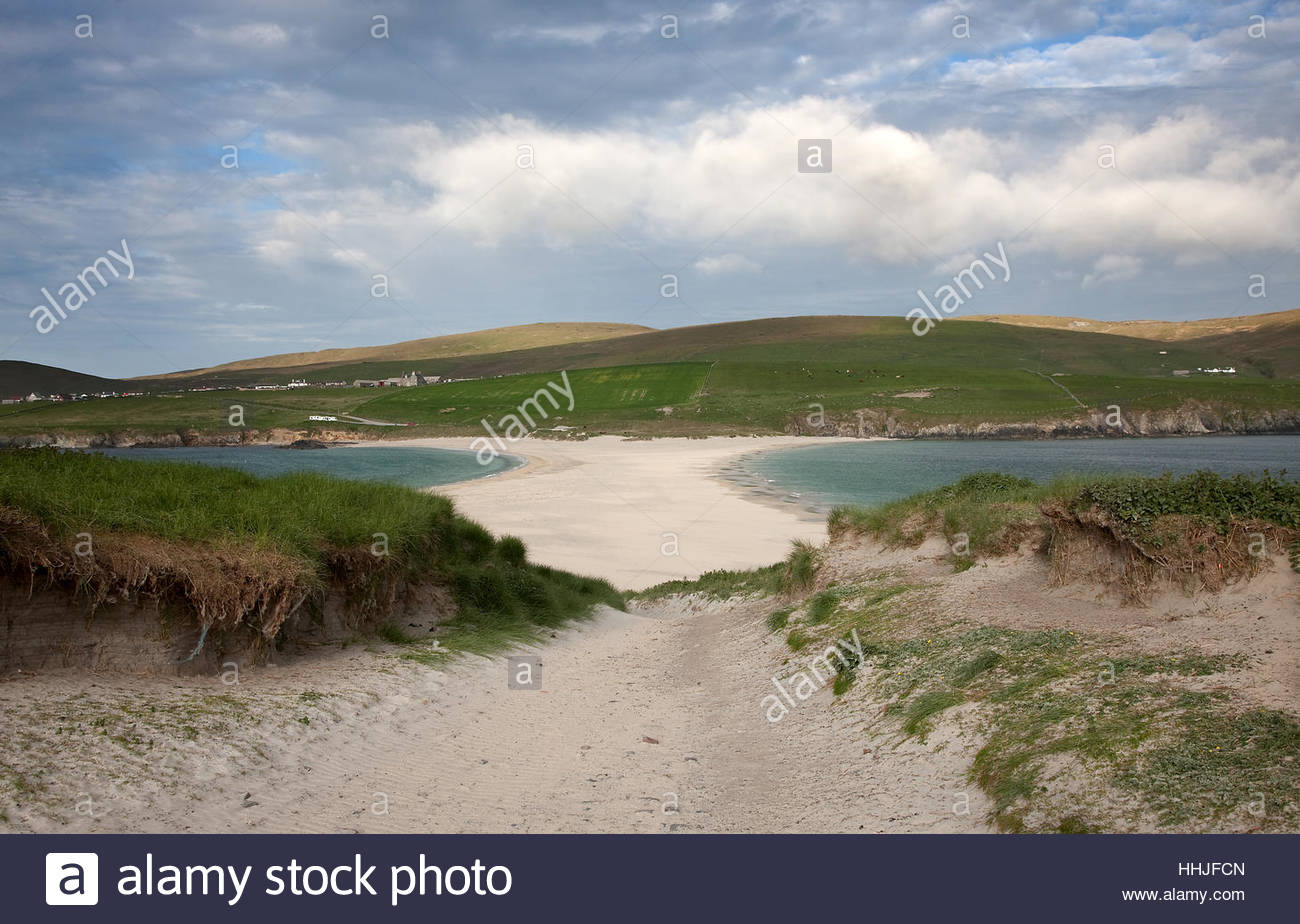 St. Ninian's Isle Orkney and Shetland Islands, Mainland Shetland Stock Photos & Mainland Shetland Stock Images ...