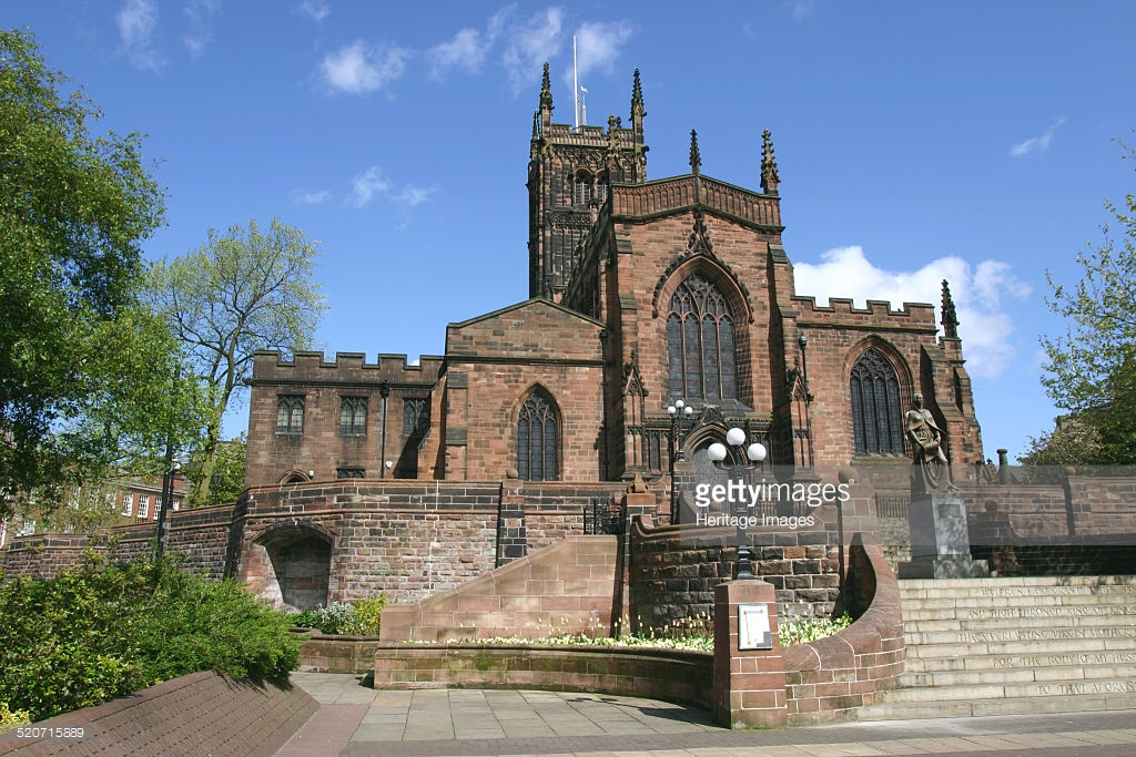 St Peter's Church Colombo, Lady Wulfrun statue and St Peter's Church, Wolverhampton, West ...