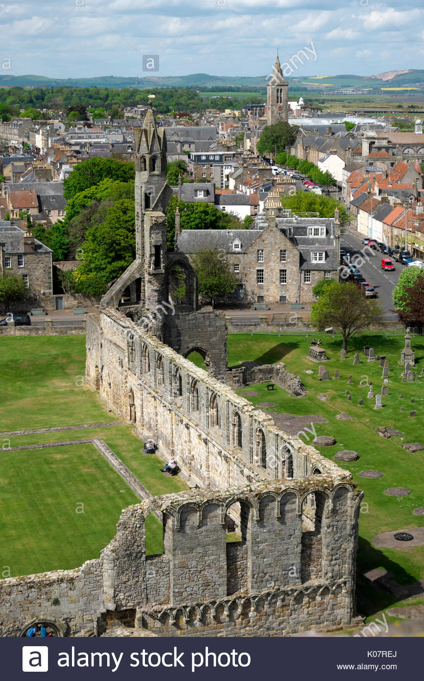 St. Rule's Tower Fife and Angus, View From St Andrews Church Stock Photos & View From St Andrews ...