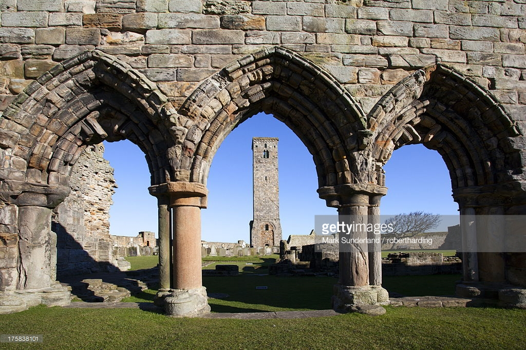 St. Rule's Tower Fife and Angus, St Rules Tower At St Andrews Cathedral Fife Scotland United ...