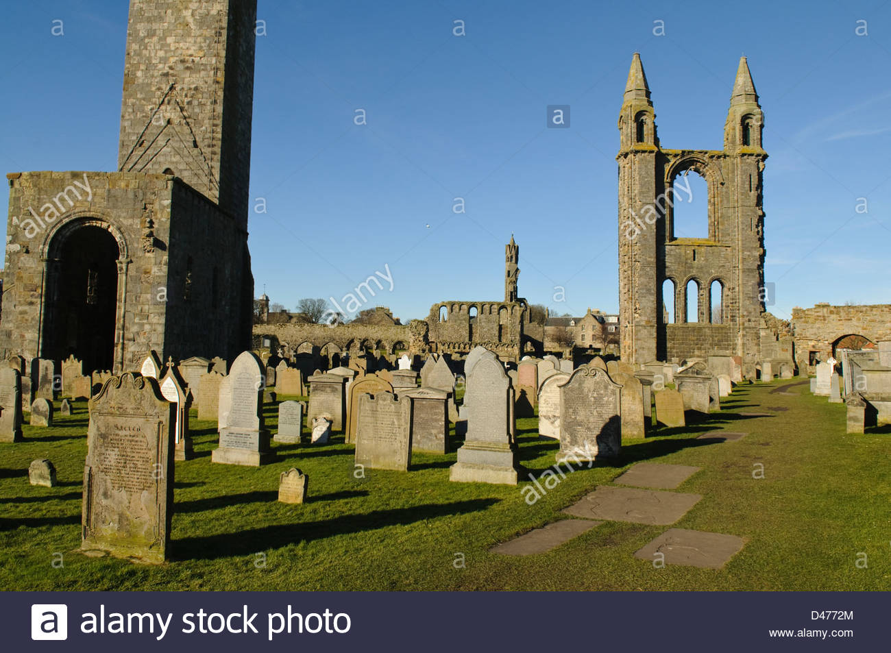 St. Rule's Tower Fife and Angus, St. Rules Tower and the East Tower of St. Andrews Cathedral, St ...