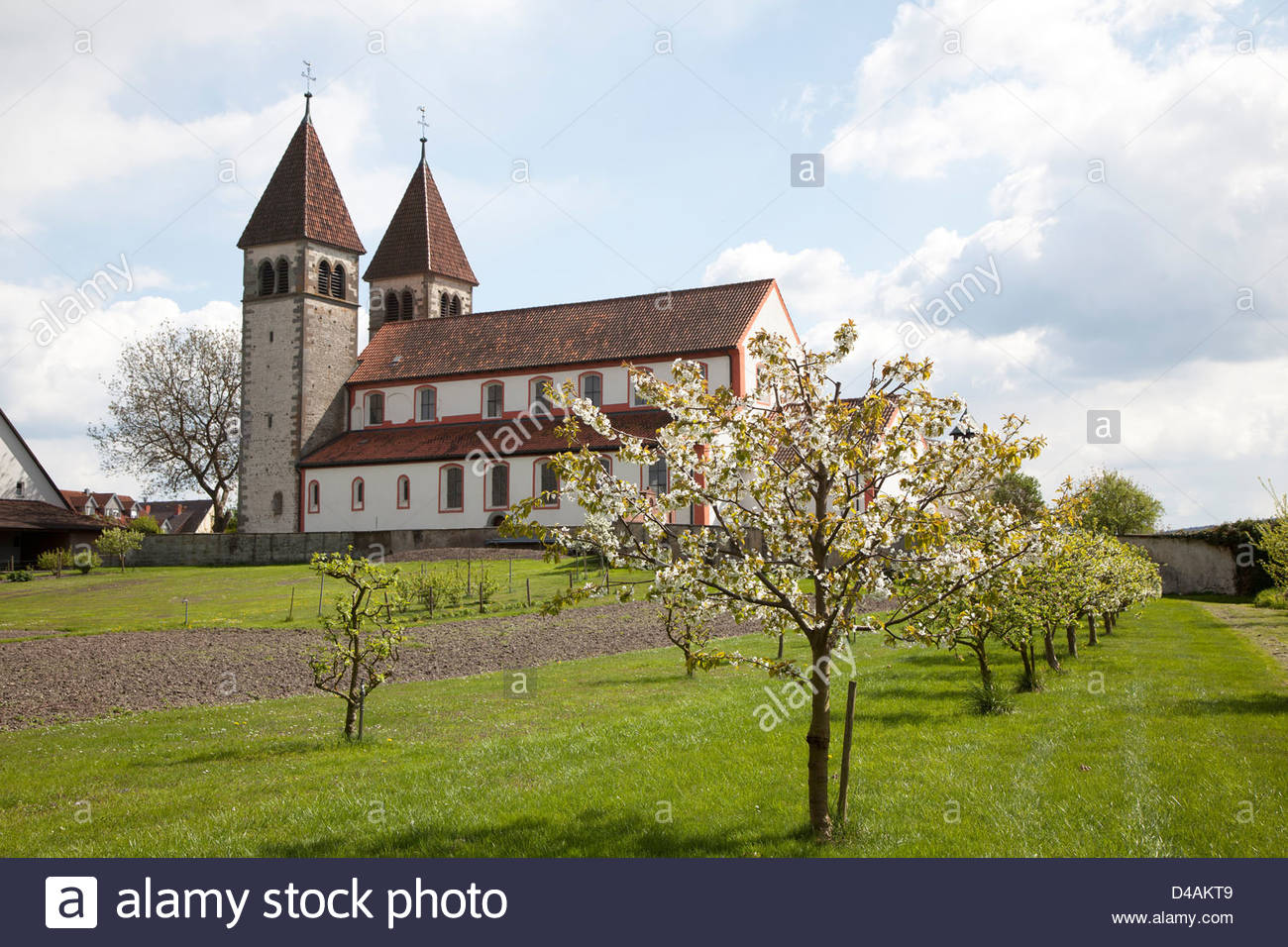 Stiftskirche St. Peter und Paul The Bodensee, Reichenau, Germany, Collegiate Church of St. Peter and Paul Stock ...