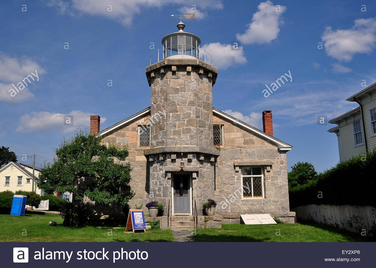 Stowe Craft Gallery & Design Center Stowe, Stonington, Connecticut: The 1840 solid granite Old Lighthouse ...