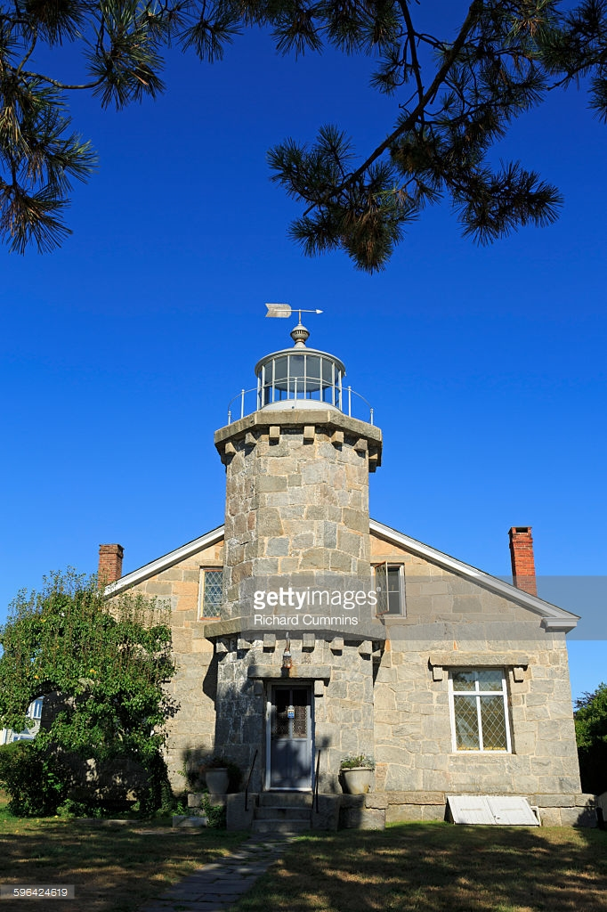 Stowe Craft Gallery & Design Center Stowe, Old Lighthouse Museum Stonington Stock Photo   Getty Images