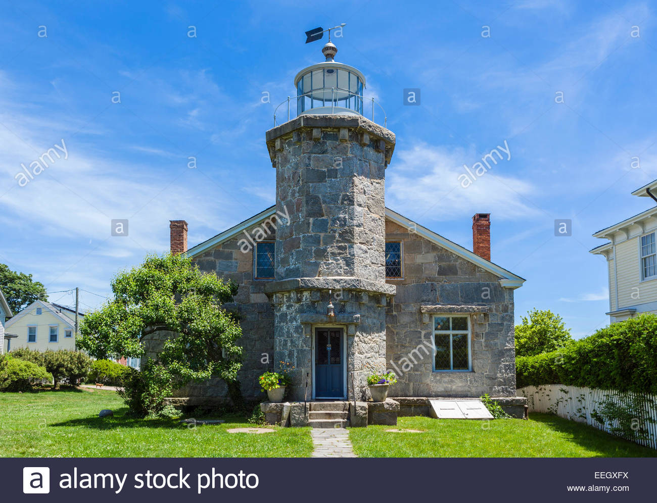 Stowe Craft Gallery & Design Center Stowe, The historic Stonington Harbor Light, now housing the Old ...