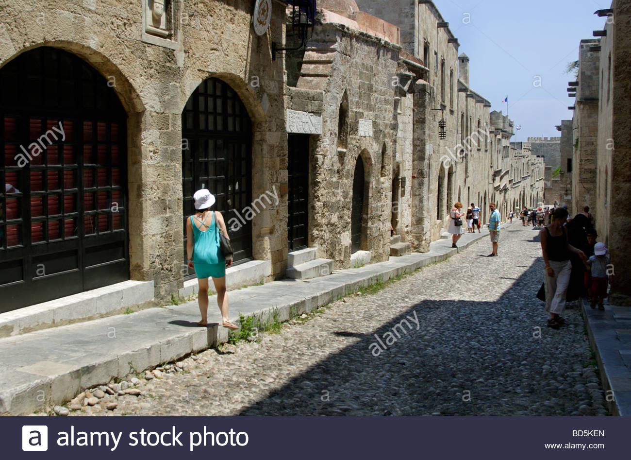 Street of the Knights Rhodes Town, Odos Ippoton - Street of the Knights in Rhodes Old Town Rhodes ...
