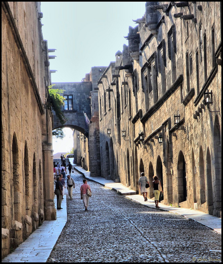 Street of the Knights Rhodes Town, Avenue of the Knights (Ipoton Street), Rhodes Town, Greece…   Flickr