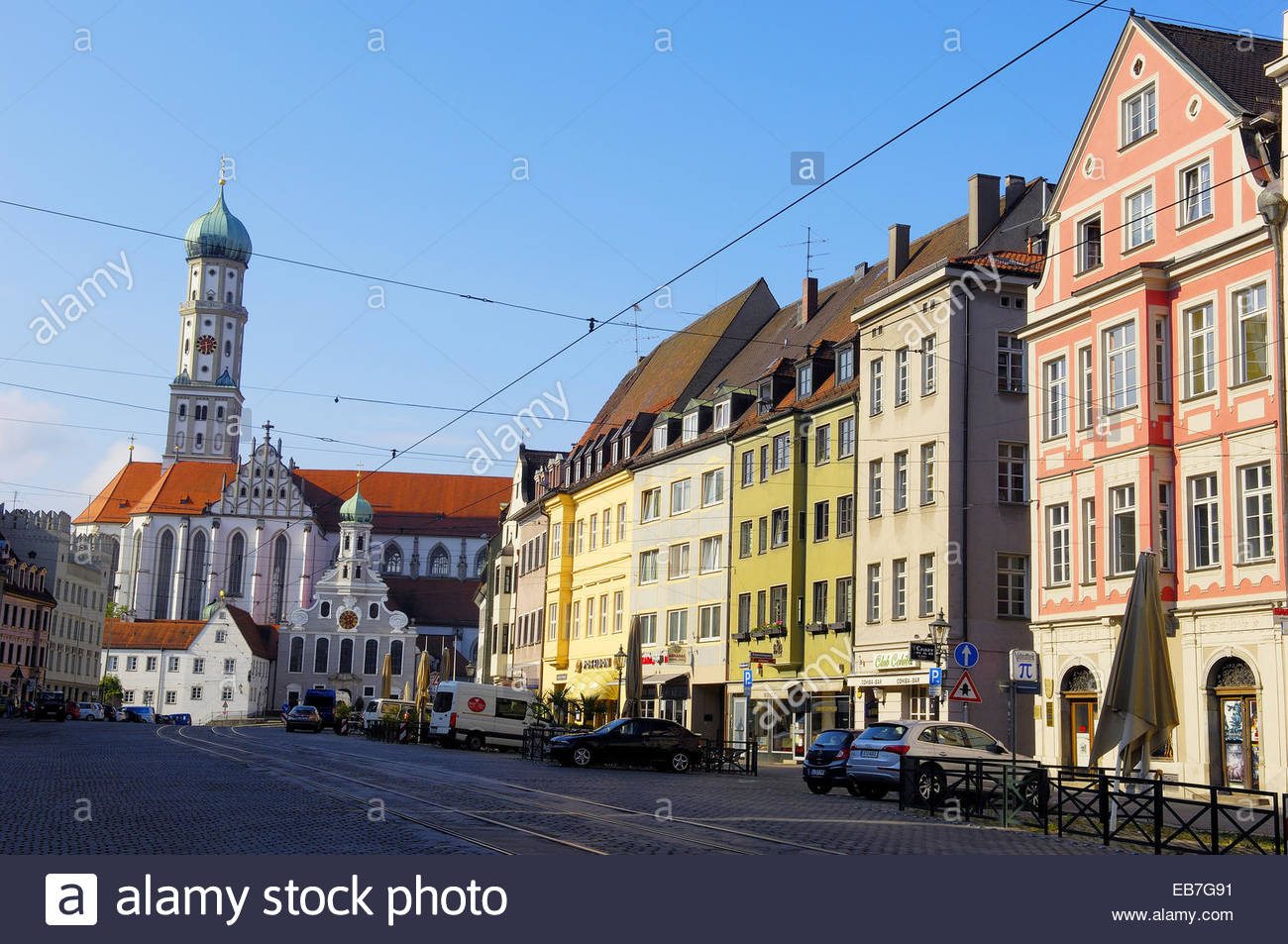 Sts. Ulrich and Afra The Romantic Road, St. Ulrich´s Church, Augsburg, Romantische Strasse (Romantic Road ...