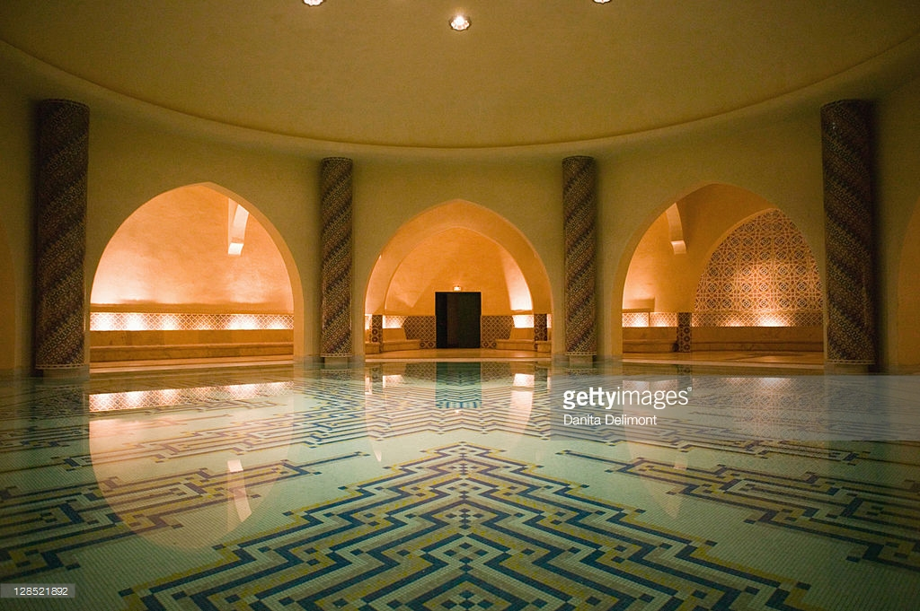 Sunna Mosque The Northern Atlantic Coast, Hassan Ii Mosque Interior Of The Hammam Casablanca Atlantic Coast ...