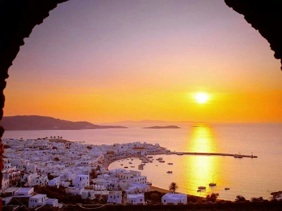 Sunset Beach The Cyclades, Cyclades, Greece #incredible view #sunset / #sunrise #ocean travel ...