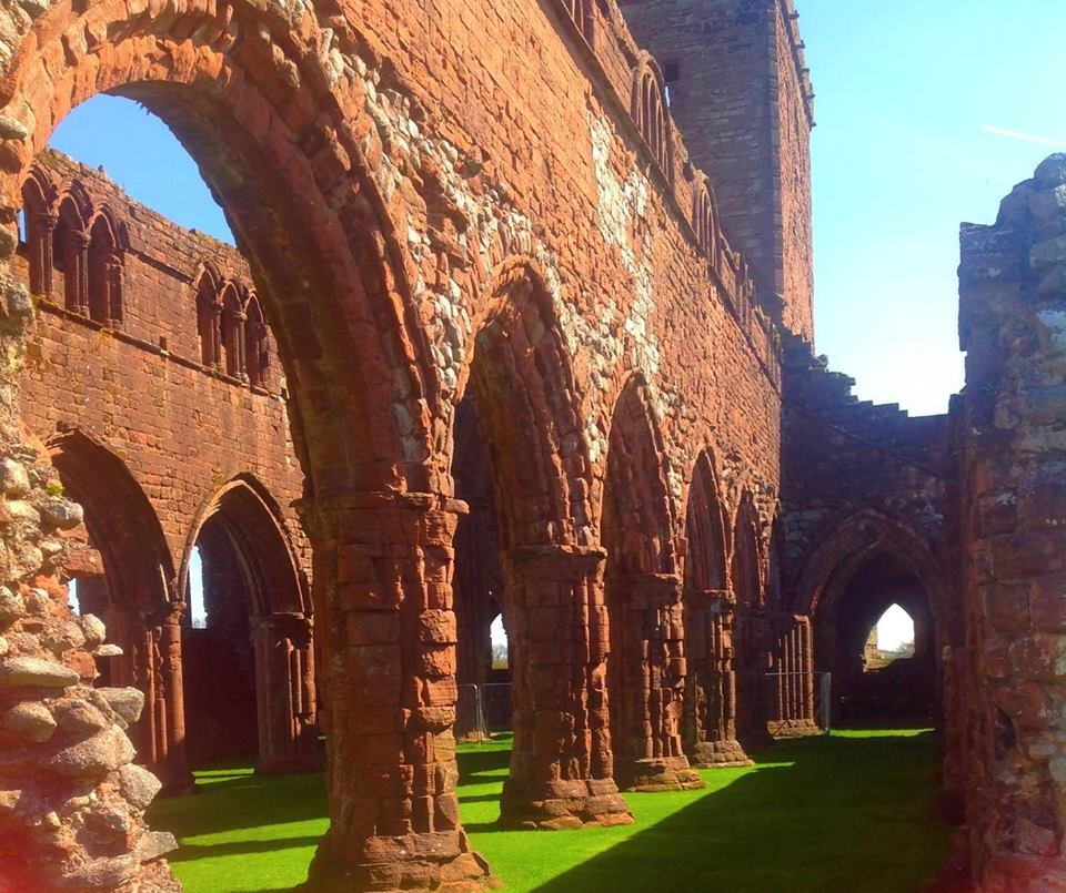 Sweetheart Abbey The Borders and the Southwest, Sweetheart Abbey, in New Abbey Village, Dumfries and Galloway ...
