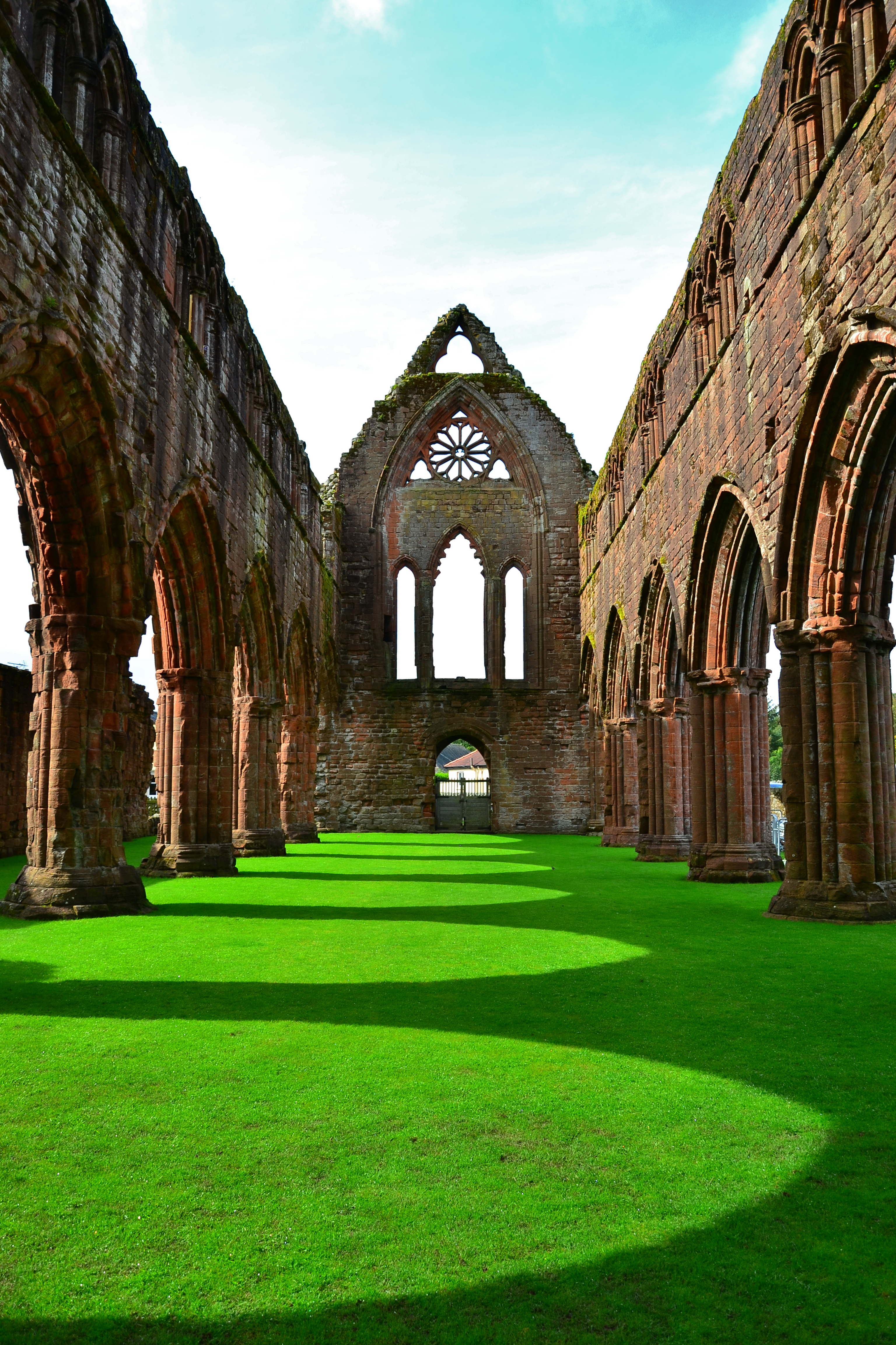 Sweetheart Abbey The Borders and the Southwest, Sweetheart Abbey #Scotland, where the grass is always greener ...