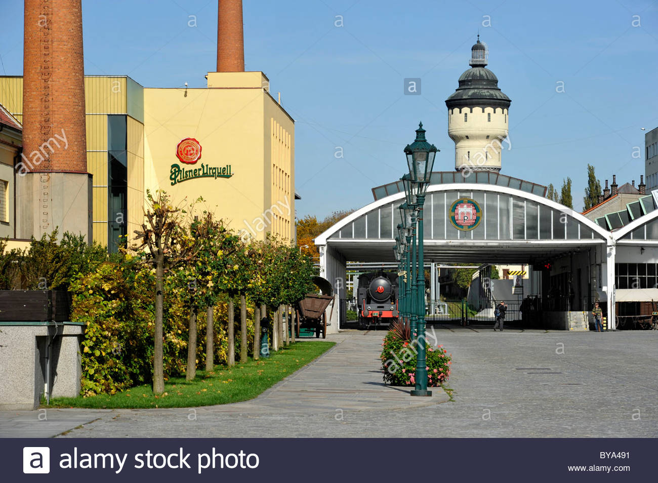Techmania Science Centre Plzeň, Brewhouses, beer transport, water tower, Pilsner Urquell brewery ...