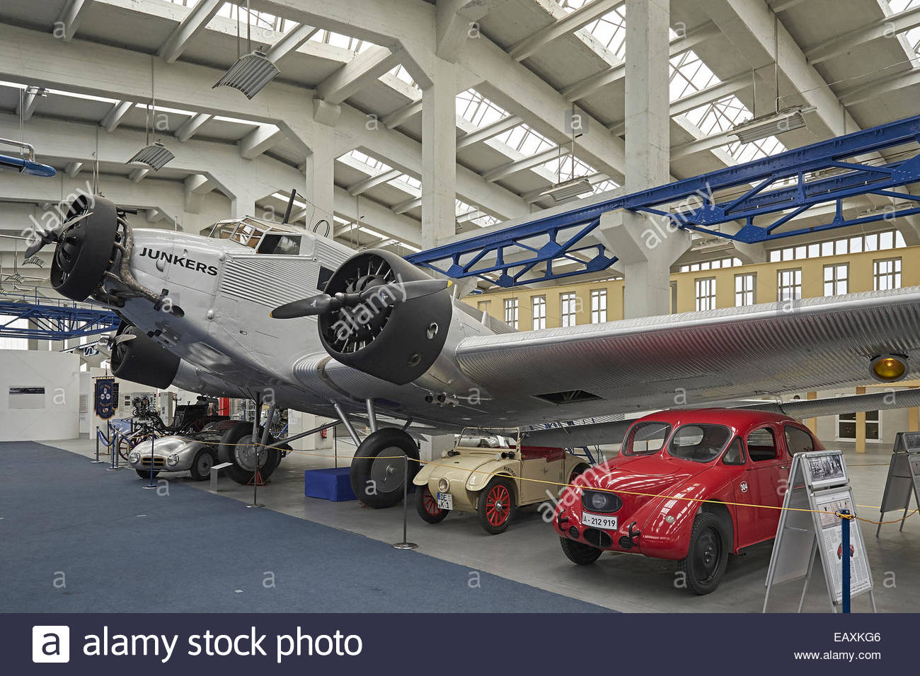 Technikmuseum Hugo Junkers Saxony, Saxony-Anhalt and Thuringia, Hugo Junkers Technical Museum in Dessau, Germany Stock Photo ...