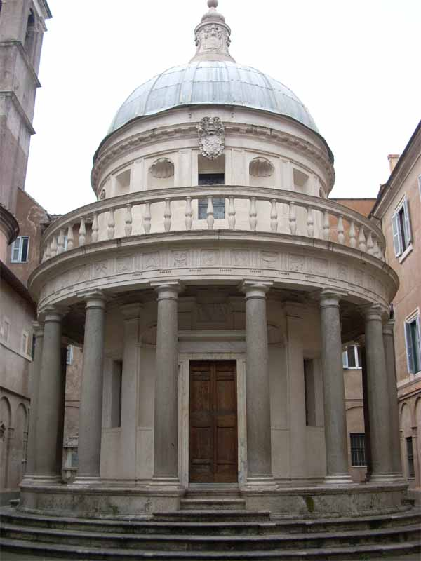 Tempietto di Bramante & Chiesa di San Pietro in Montorio Rome, The Tempietto of San Pietro in MontorioItalianNotebook