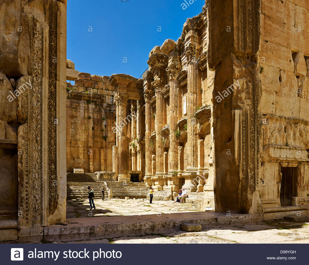 Temple of Bacchus Baalbek, Interior of Temple of Bacchus in ancient city of Baalbek, Lebanon ...